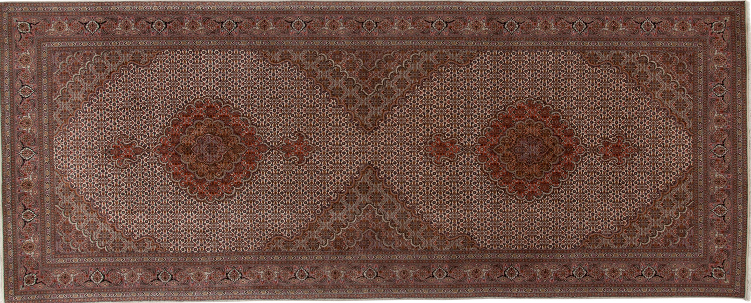 Wool/Silk Hand Knotted Persian Rug
