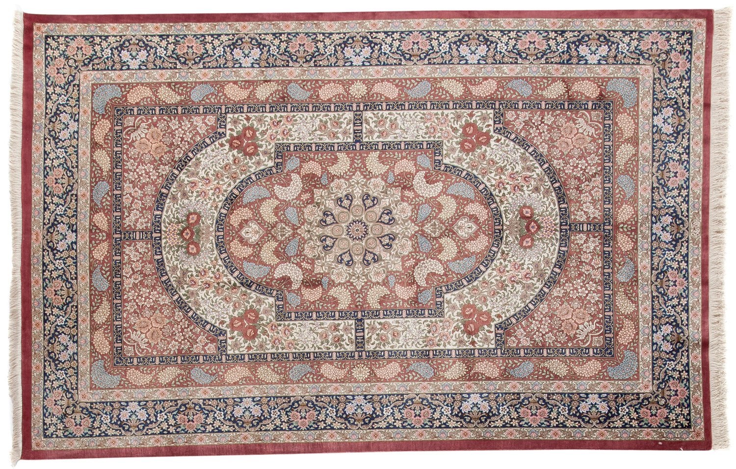 Silk Hand Knotted Persian Rug