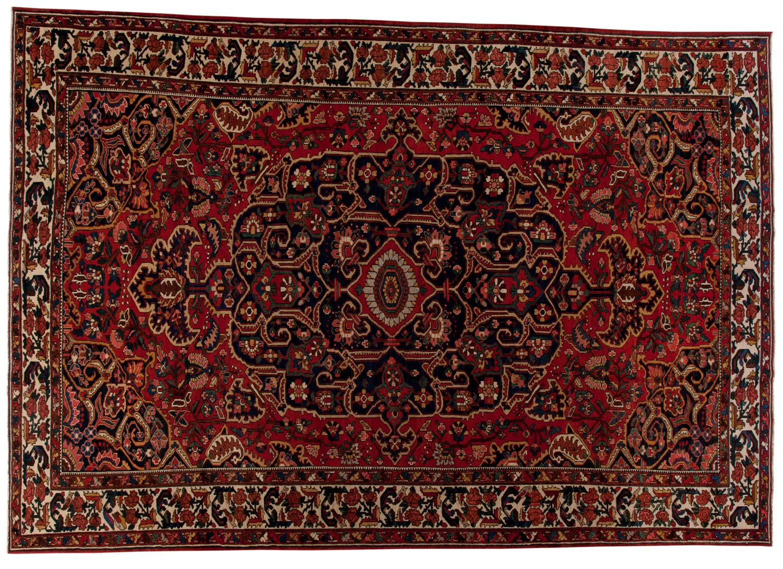 Bakhtiari-Style Wool Rug